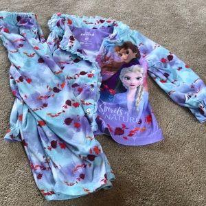 Frozen 2 II Pajama Set Button Down 4T